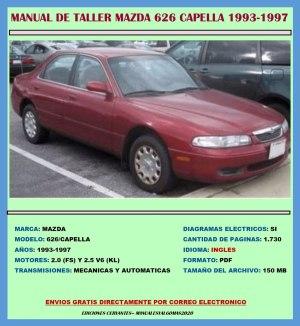 Manual De Taller Reparación Diagramas Mazda 626 19931997