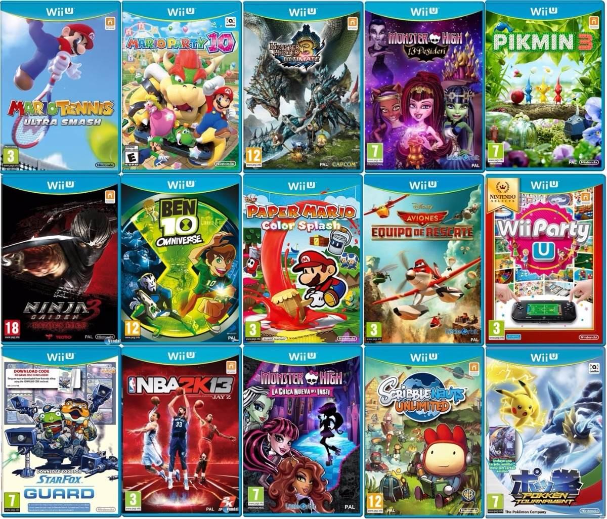 Nintendo Wii U 500gb 90 Wiiu Juegos Mejor Que Switch 589900 En Mercado Libre