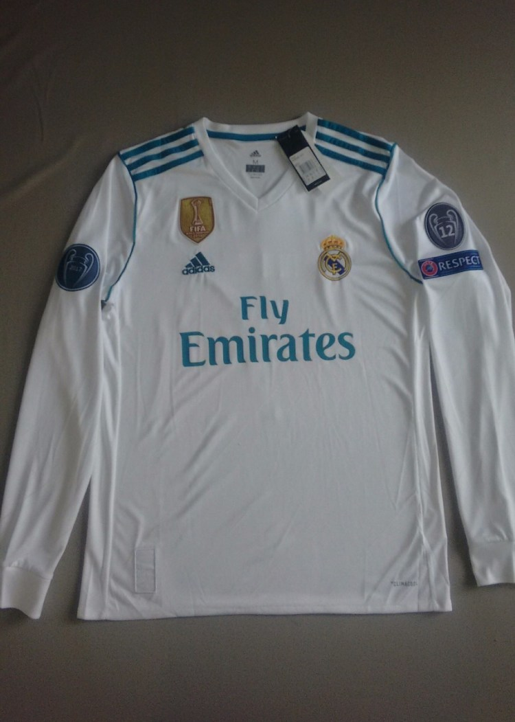 Oferta!! Jersey Real Madrid 2017-18 Home Champions League ...