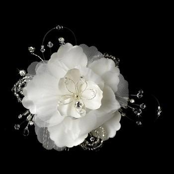 peineta de novia floral swarovsky y piedras tipo diamante 859 00 en mercado libre