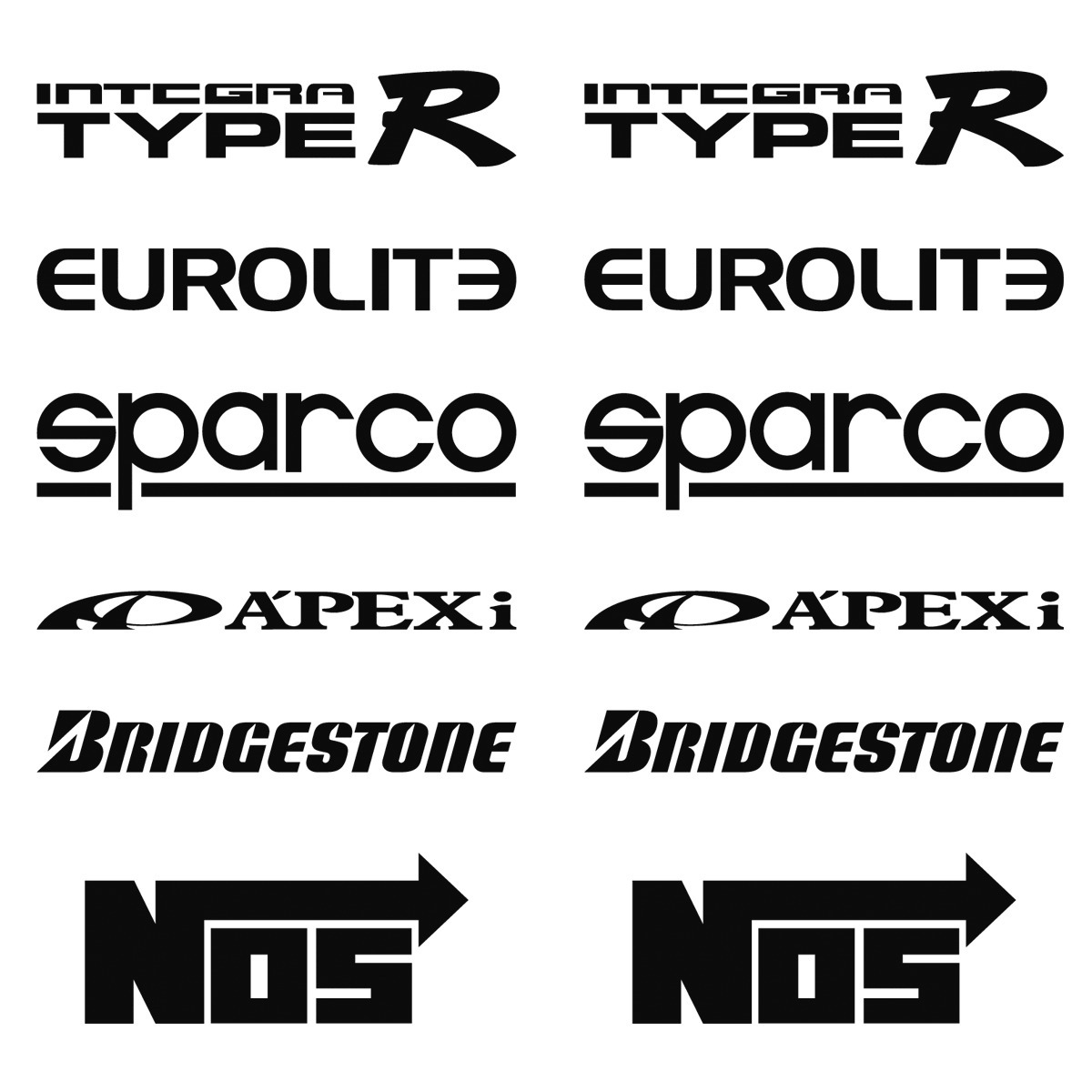Stickers Vinil Auto Tuning 12 Logos Racing Calcomanias 1