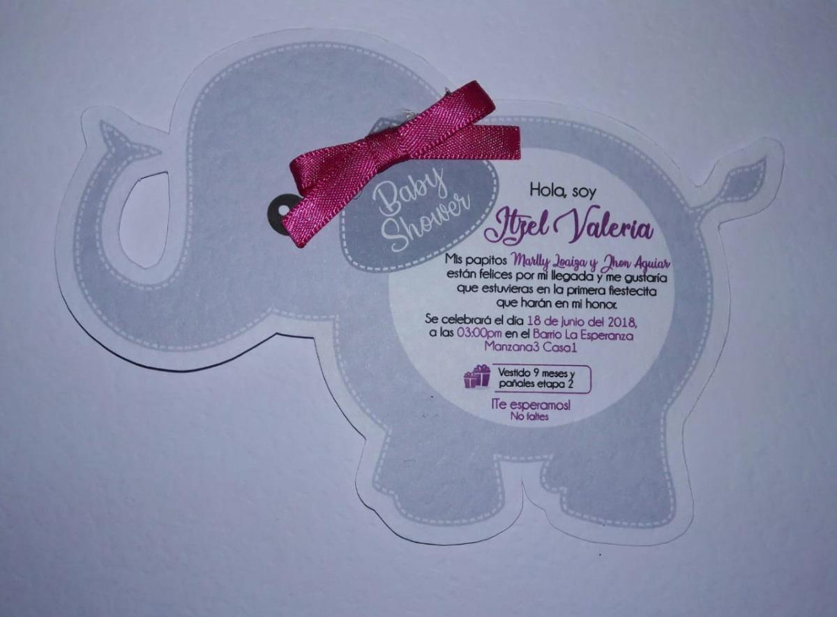 Invitaciones Para Baby Shower Nina Para Imprimir