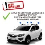 Travessa De Teto Renault Sandero Stepway 2009 Aluminio Prata R 245 00 Rq Shop