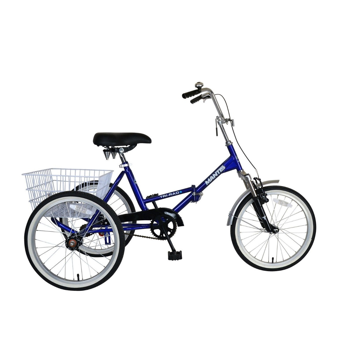 Triciclo Plegable Bicicleta Con Canasta Cycle Force