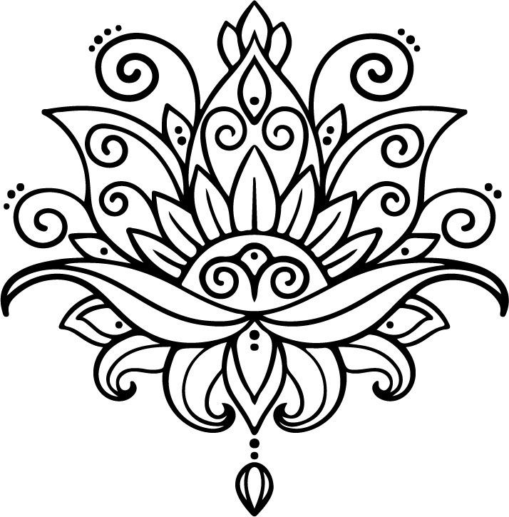 Dibujo De La Flor De Loto