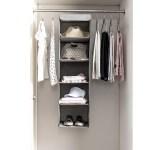 Zober 5 Shelf Hanging Closet Organizer Space Saver Roomy Br