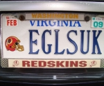 Redskins License Plates