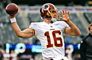 Redskins Place Colt McCoy on IR; Promote LB Jackson Jeffcoat