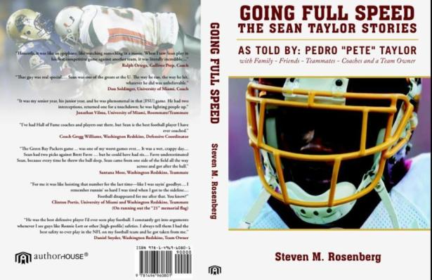 """Sean Taylor Book """"Going Full Speed the Sean Taylor Stories"""""""
