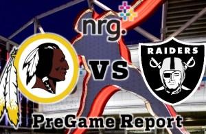 HTTR4LIFE Pre-Game Report - Redskins vs Raiders Week 3