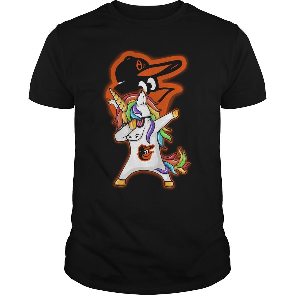 Unicorn dabbing Baltimore Orioles baseball shirt