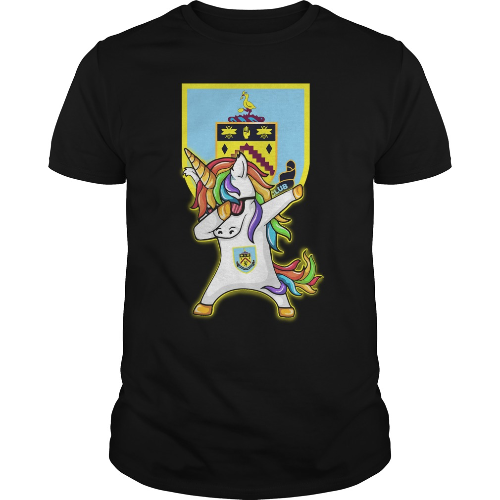 Unicorn dabbing Burnley football shirt