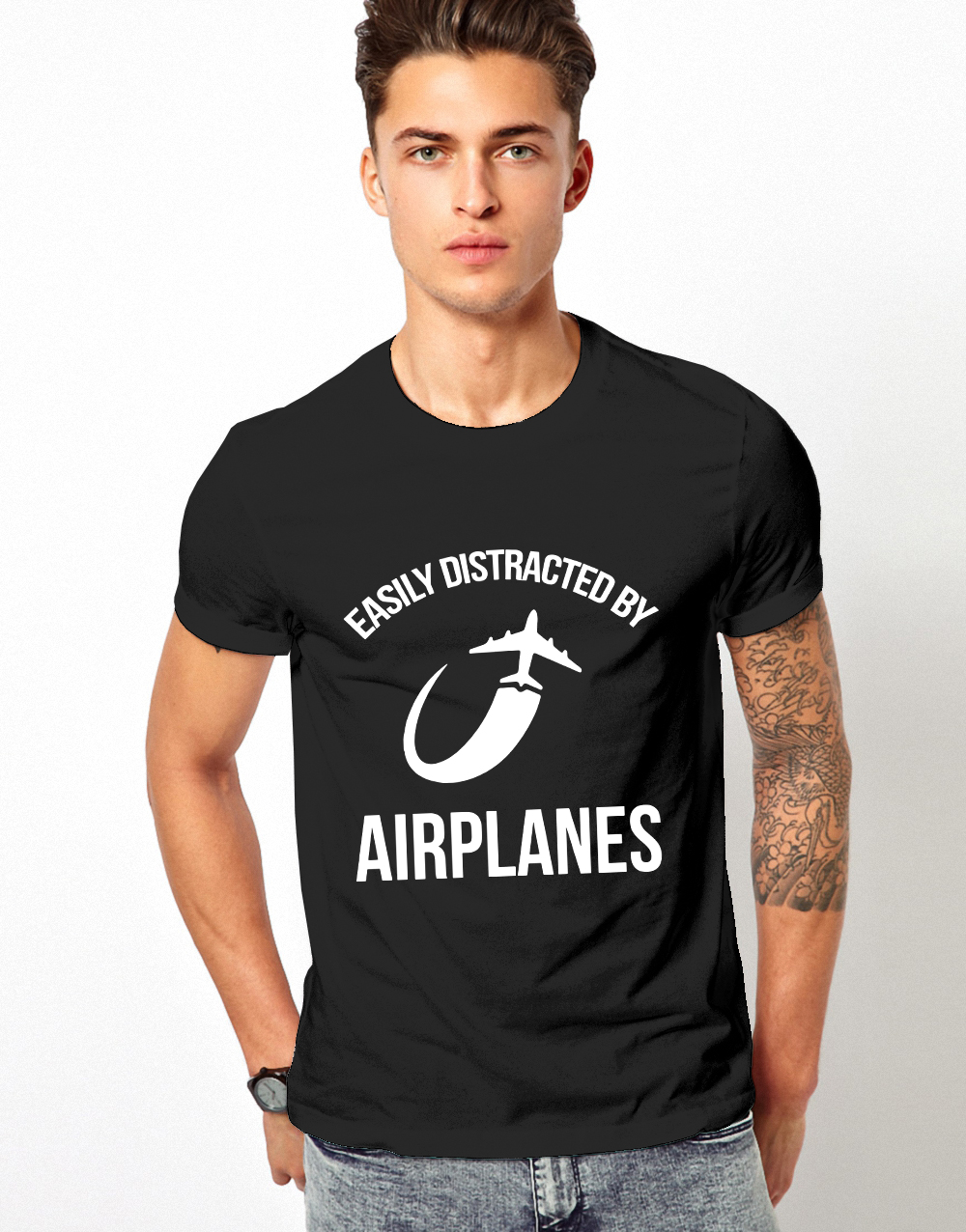 Easily distracted by airplanes shirt
