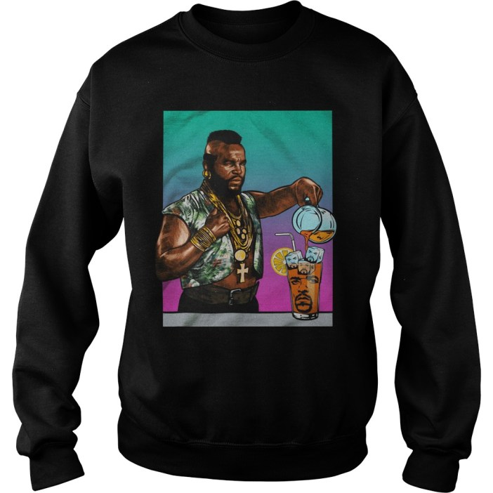Mr. T Drinking Iced Tea Ice Cube Sweater