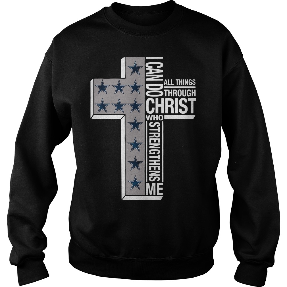 Dallas Cowboys I can do all things through Christ who strengthens me cross Sweater
