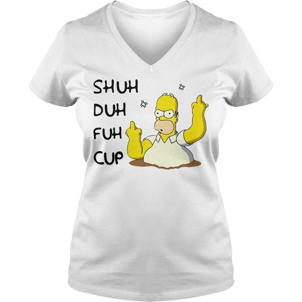 Homer Simpson Shuh Duh Fuh Cup V-neck t-shirt
