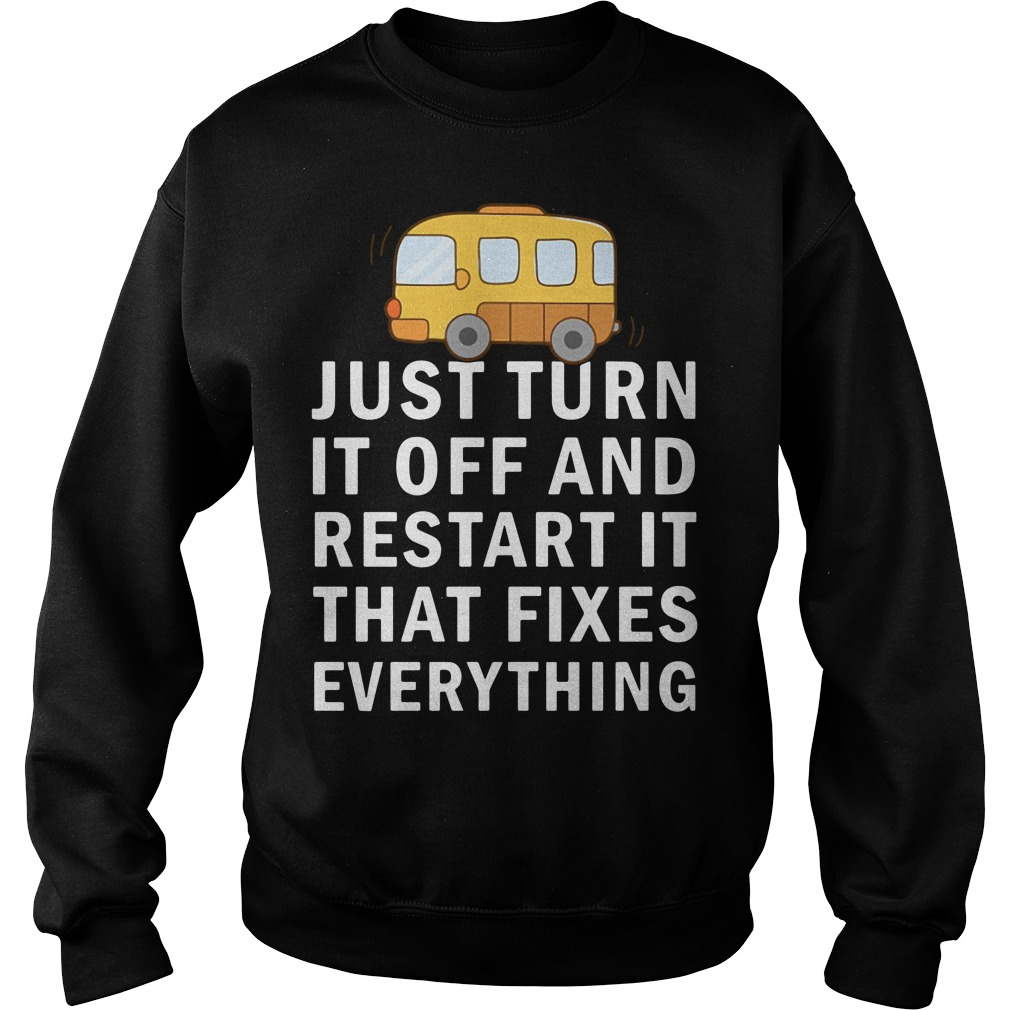 Just turn it off and restart it that fixes everything Sweater