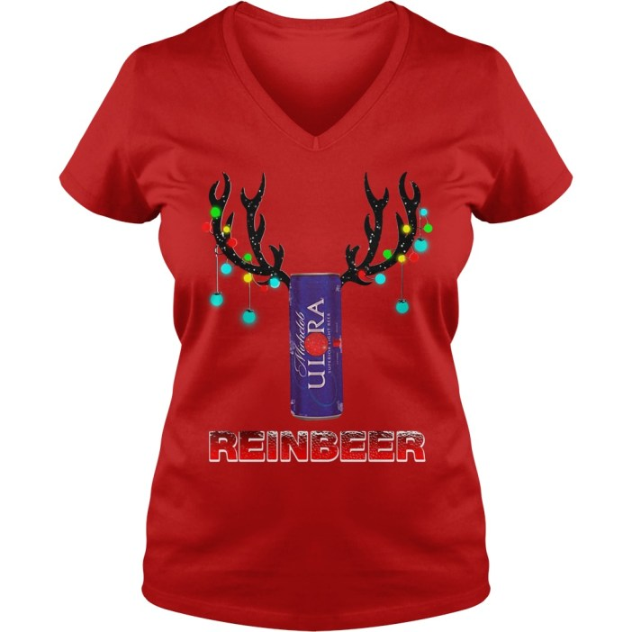 Michelob Ultra reinbeer Christmas V-neck t-shirt