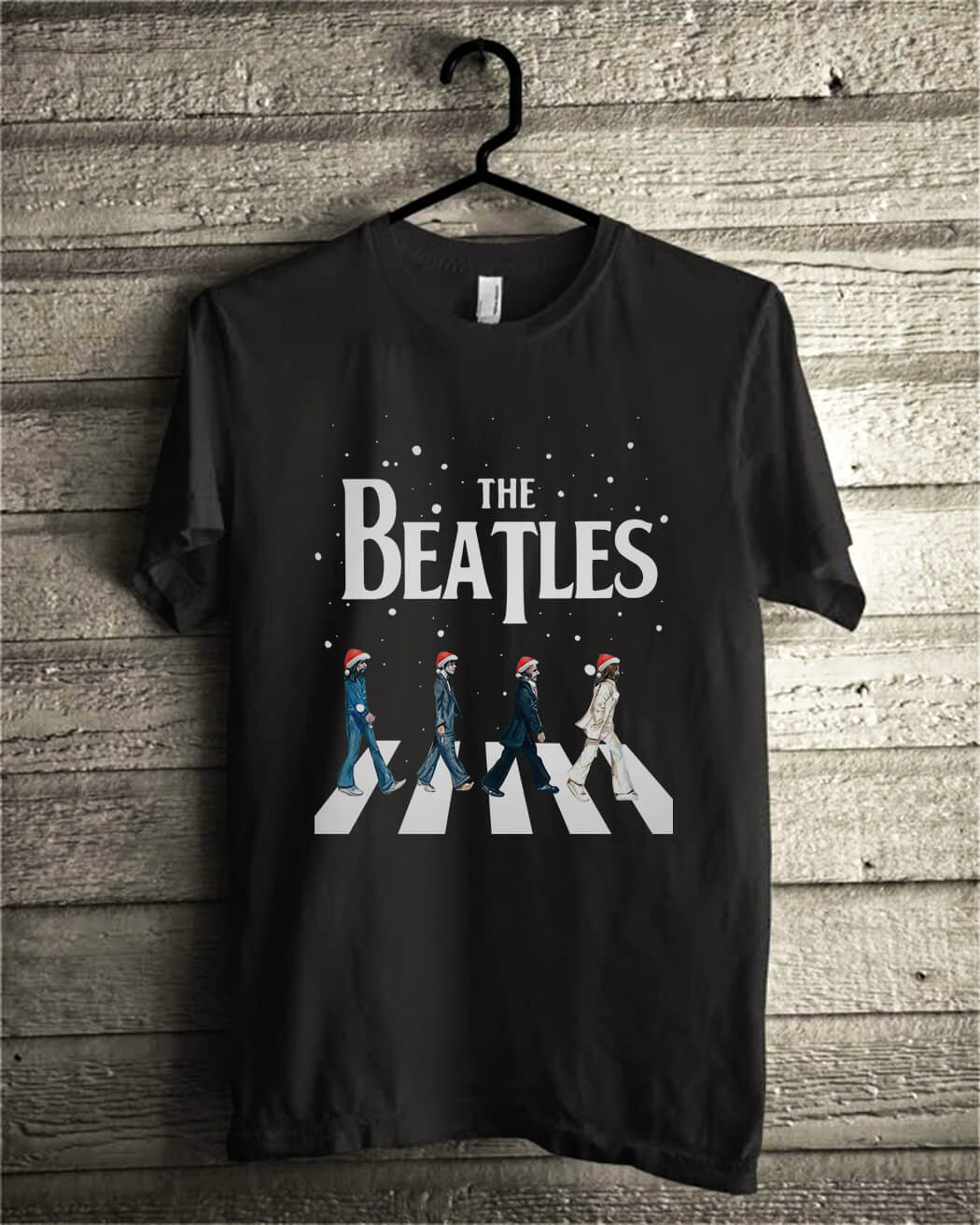 Christmas The Beatles Abbey Road shirt