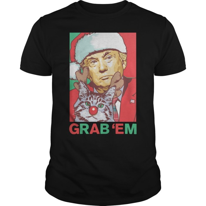 Donald Trump Grab 'em by the Pussy Christmas Guys shirt