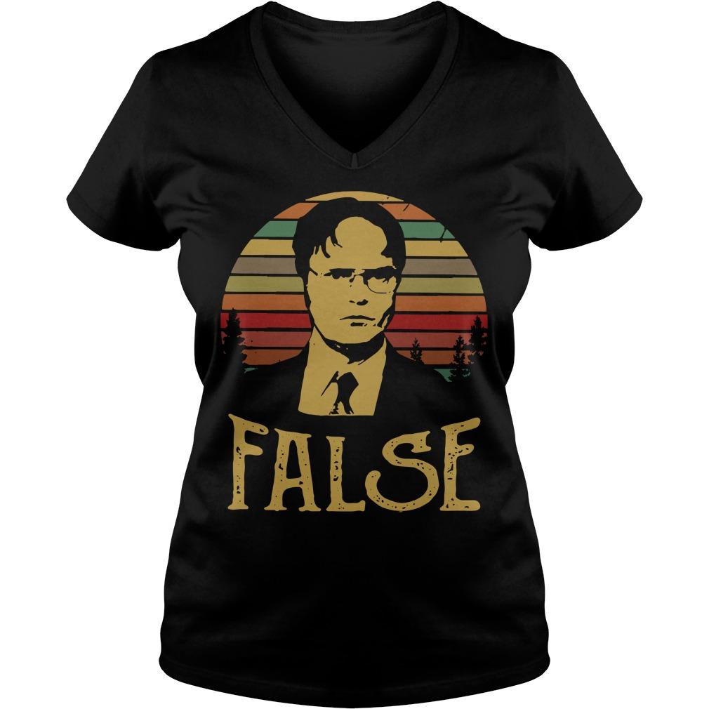 Dwight Schrute false vintage V-neck t-shirt