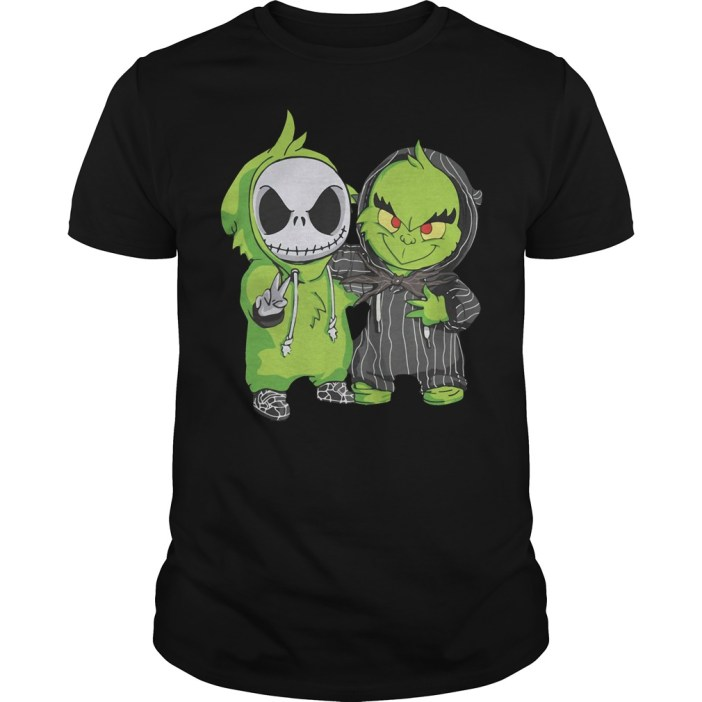 Grinch and Jack Skellington Guys shirt