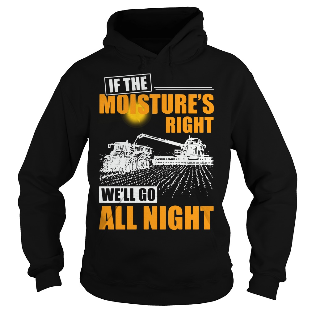 If the moistures right we'll go all night Hoodie