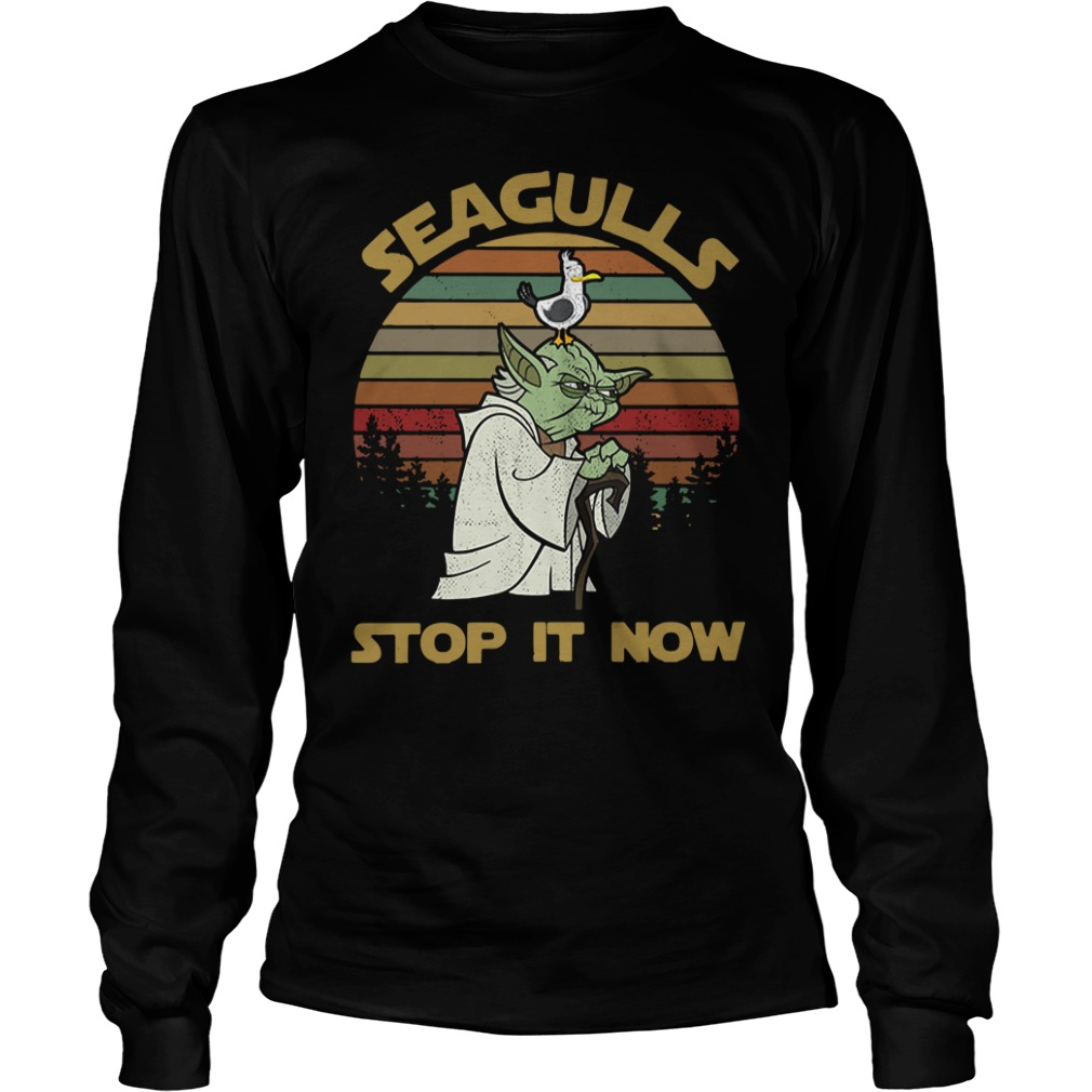 Seaguls stop it now Longsleeve Tee