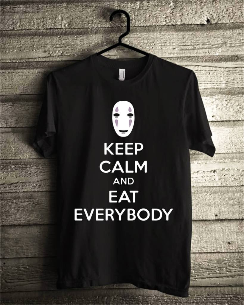 No face keep calm and eat everybody shirt