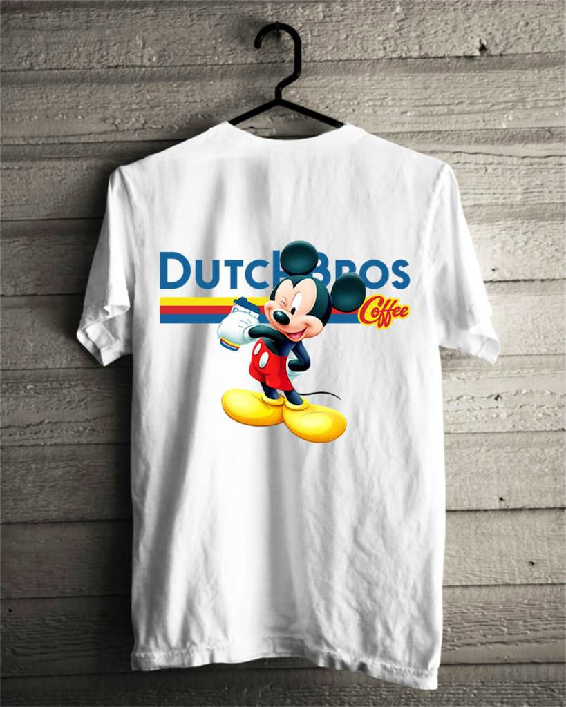 Official Mickey Mouse drink Dutch Bros Coffee shirt