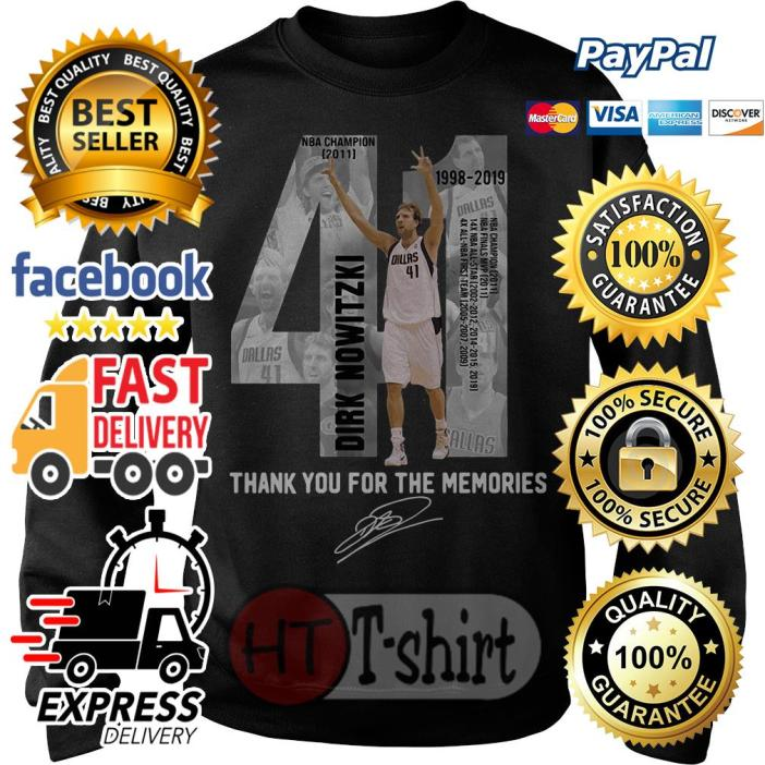 41 Dirk Nowitzki thank you for the memories Sweater