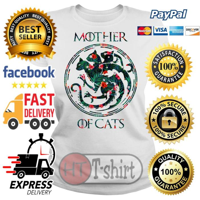 Best Flower mother of cats game of thrones Ladies tee