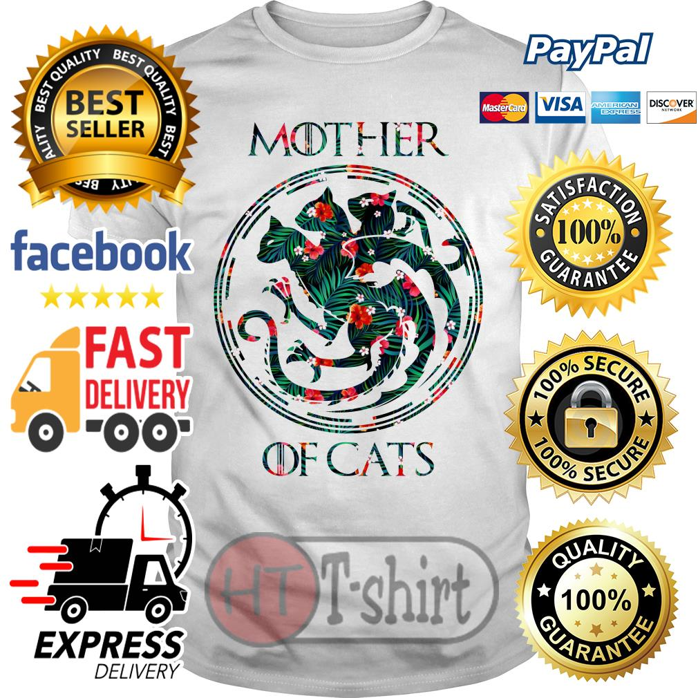Best Flower mother of cats game of thrones shirt