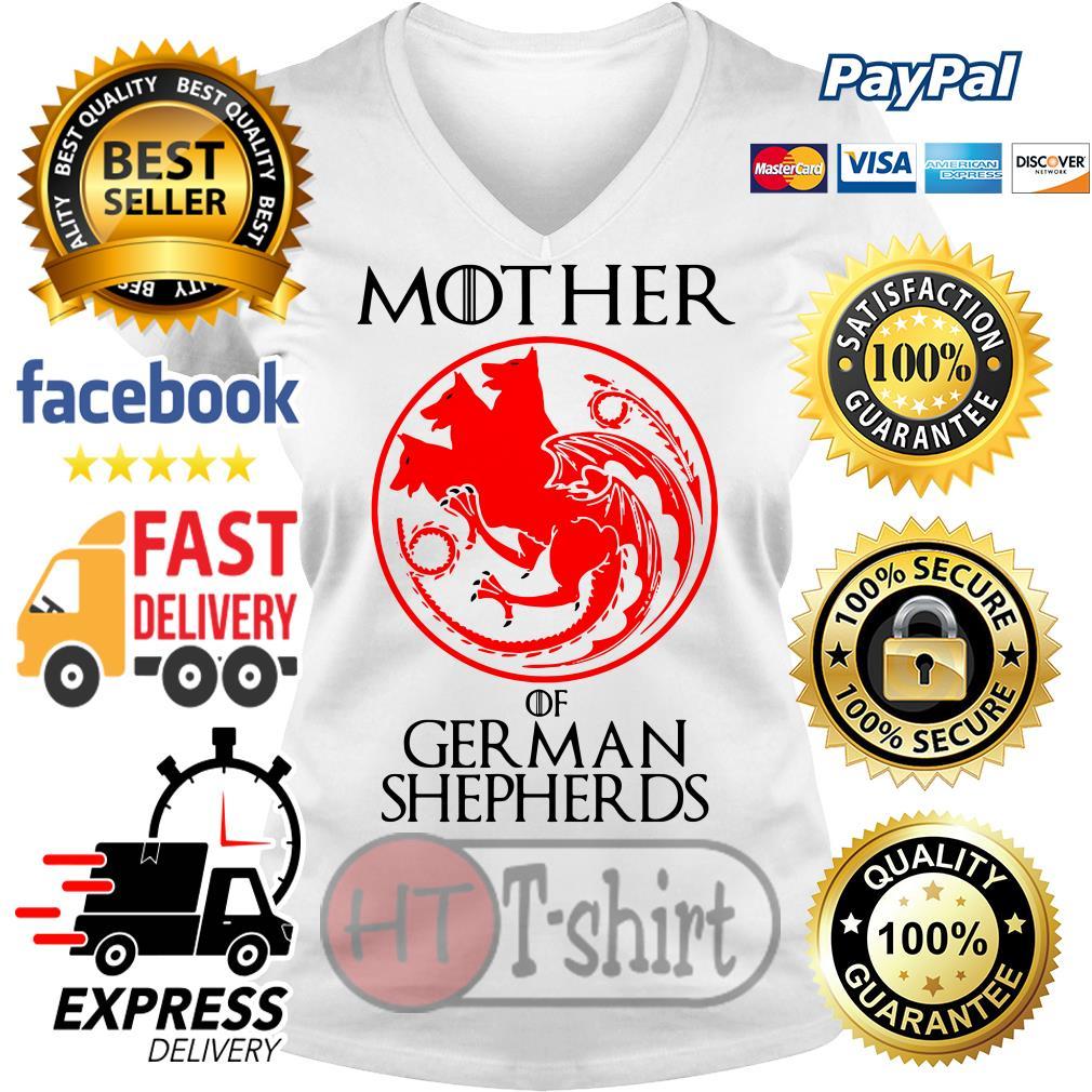 Game of Thrones Mother of German Shepherds V-neck t-shirt