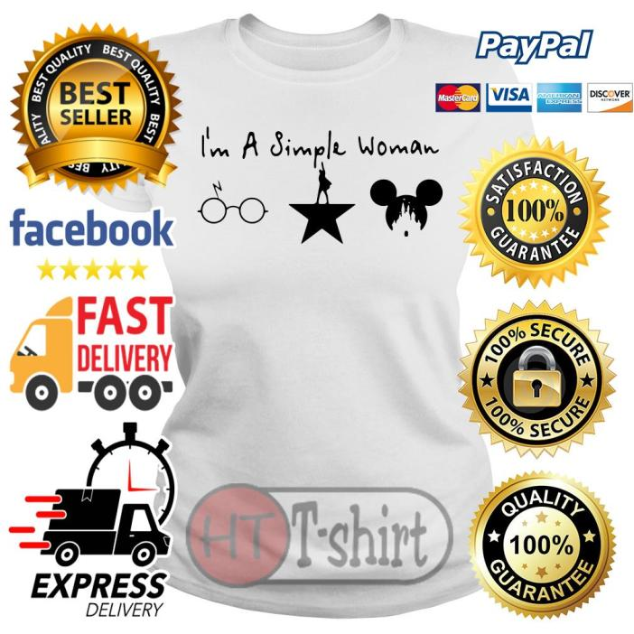 I'm a simple woman I like coffee sunflower and Post Malone Ladies tee