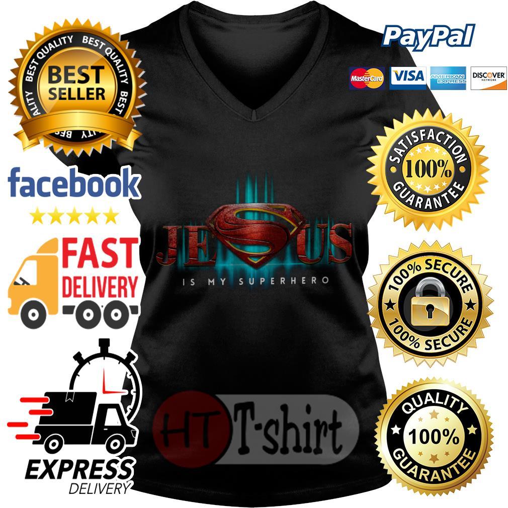 Superman Jesus is my superhero V-neck t-shirt