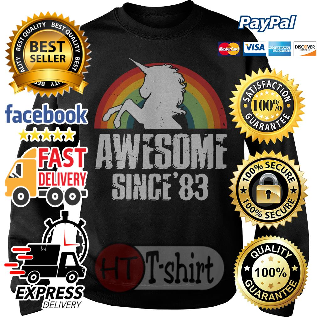Unicorn awesome since'83 retro Sweater
