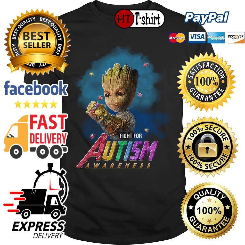 Avengers Groot Fight for Autism awareness shirt