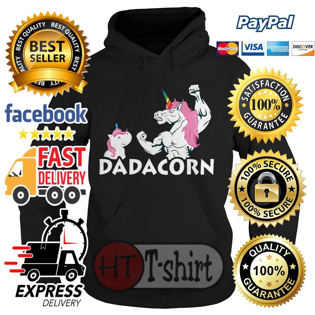 Dadacorn unicorn dad and baby fathers day shirt