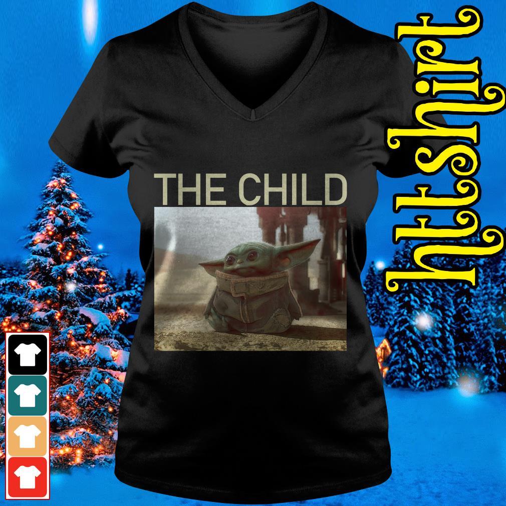 The Mandalorian Baby Yoda The Child V-neck t-shirt