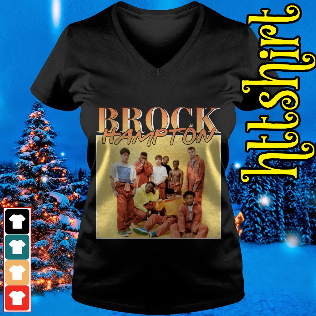Brockhampton members V-neck t-shirt