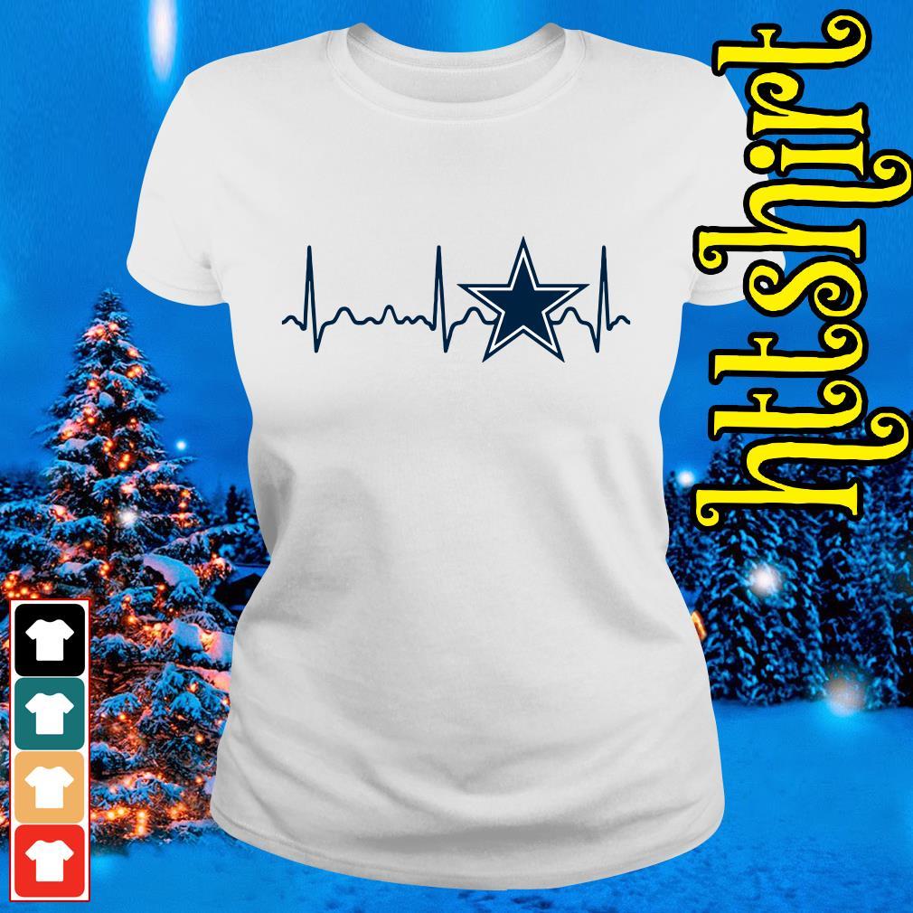 Dallas Cowboys heartbeat Ladies tee