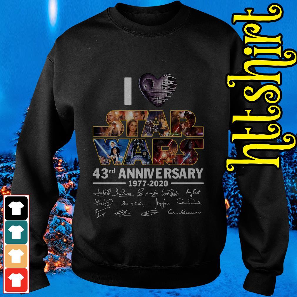 I love Star Wars 43rd anniversary 1977-2020 signatures Sweater