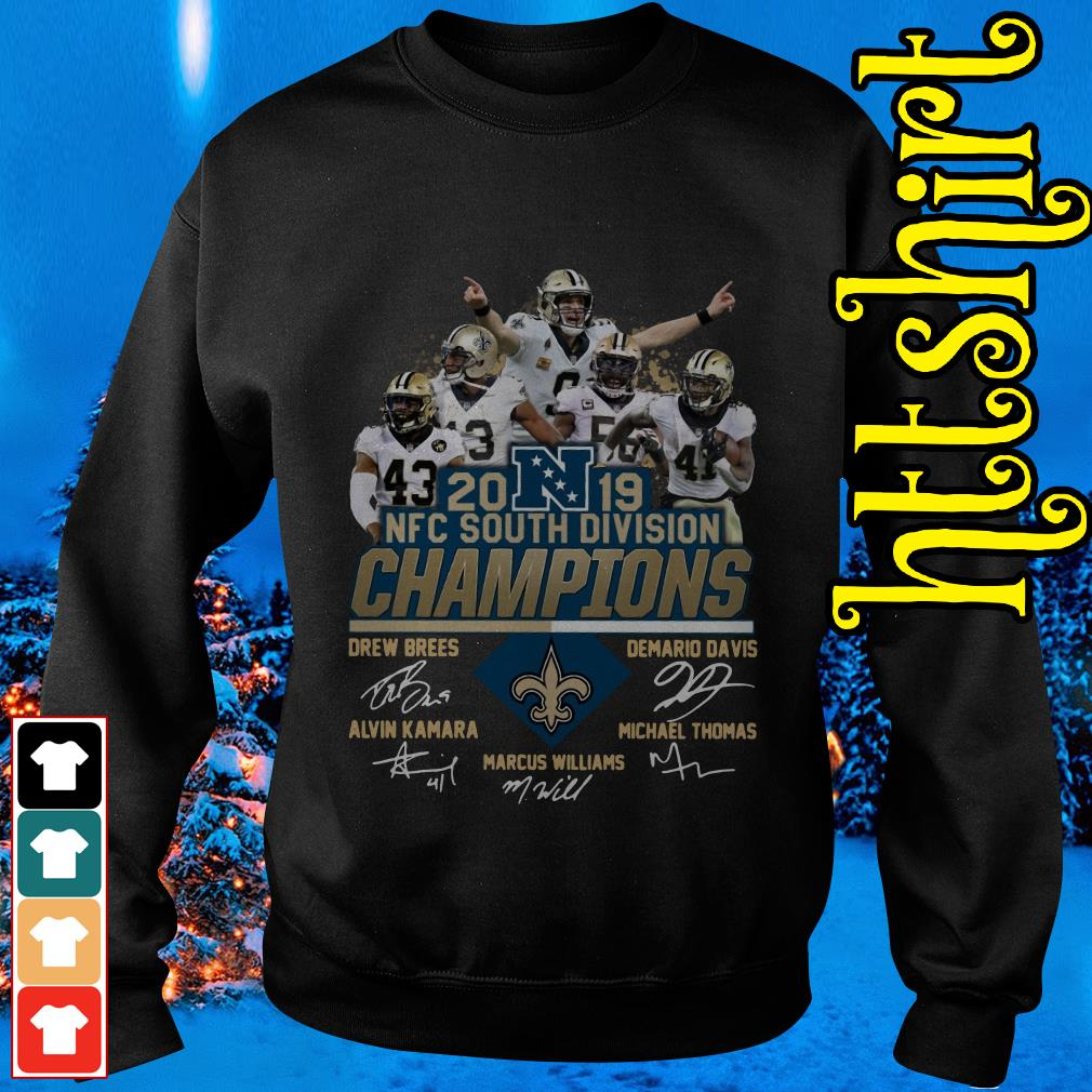 New Orleans Saints 2019 NFC South Division Champions players signature Sweater