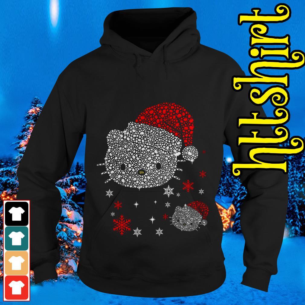 Rhinestone Hello Kitty Christmas Hoodie