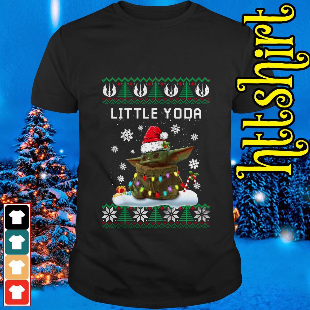 The Mandalorian little Yoda ugly Christmas shirt, sweater