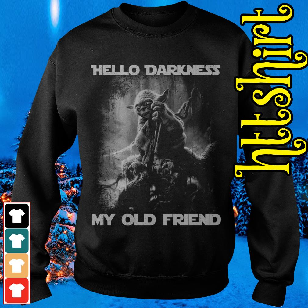 Master Yoda hello darkness my old friend Sweater