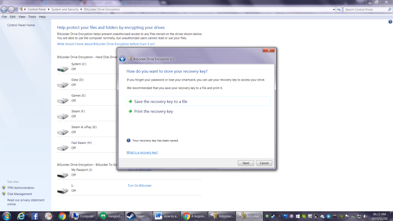 BitLocker How To Step 4