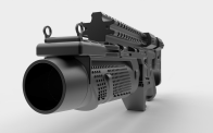 3D Printed Batman v Superman Dawn of Justice Grenade launcher Pic 2 htxt.africa