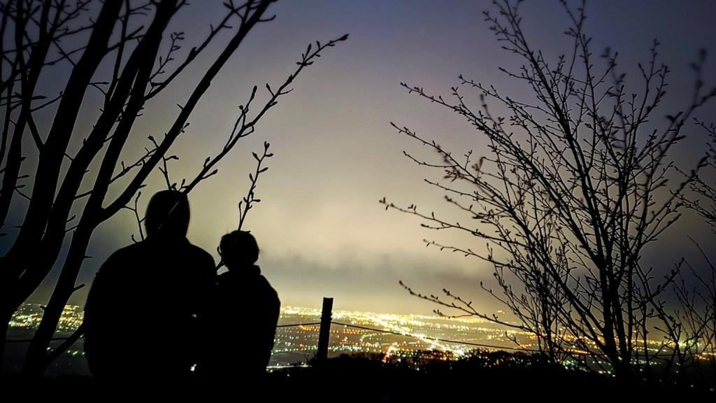 北海道 きじひき高原キャンプ場 夜景